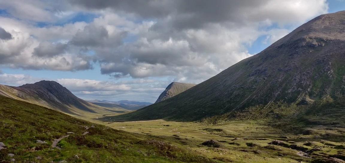 View down upper Dee valley