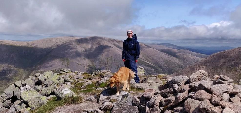 Walker & dog on top of Angel's Peak