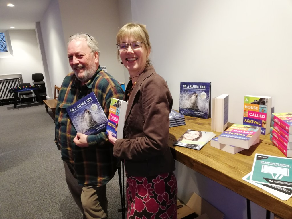 Charlie Phillips & Merryn Glover with their books