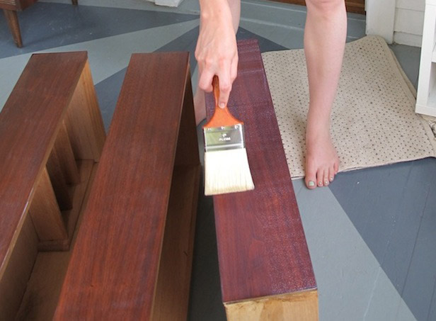 How to apply polyurethane when refinishing vintage furniture.