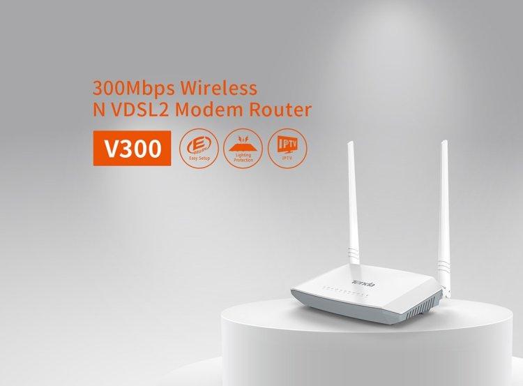 Tenda V300 4 portlu 300 mbps vdsl modem