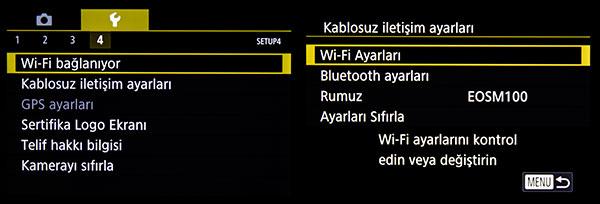 M100 Wi-Fi Bağlantı
