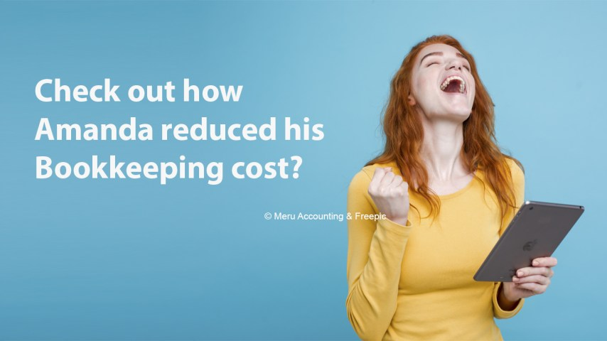 Check out how Amanda reduced his Bookkeeping cost