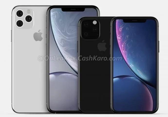 iPhone XI/XI Maxの予想レンダリング©Steve H.McFly