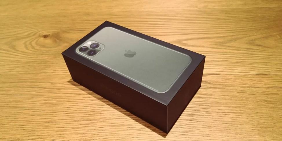 iPhone 11 Proの箱は黒い