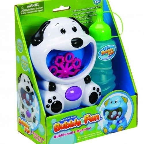 Battery operated Dog Bubble machine - Switch adapted