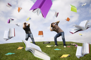 Raining books