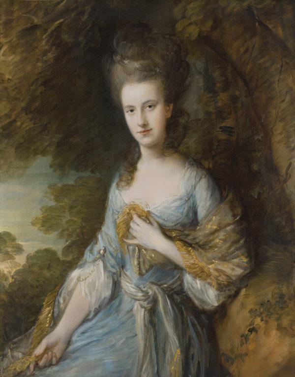 Sarah Buxton posando para Gainsborough GAINSBOROUGH, Thomas_Retrato de Sarah Buxton c. 1776-1777_153 (1983.21)