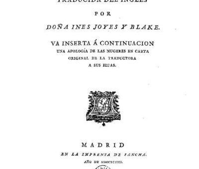 Inés de Joyes y Blake, la feminista ilustrada