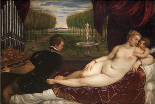 Venus recreándose con el Amor y la Música Hacia 1555. Óleo sobre lienzo, 150,2 x 218,2 cm. https://www.museodelprado.es/coleccion/obra-de-arte/venus-recreandose-con-el-amor-y-la-musica/b36421df-4d51-43b6-911c-c0517377e48d