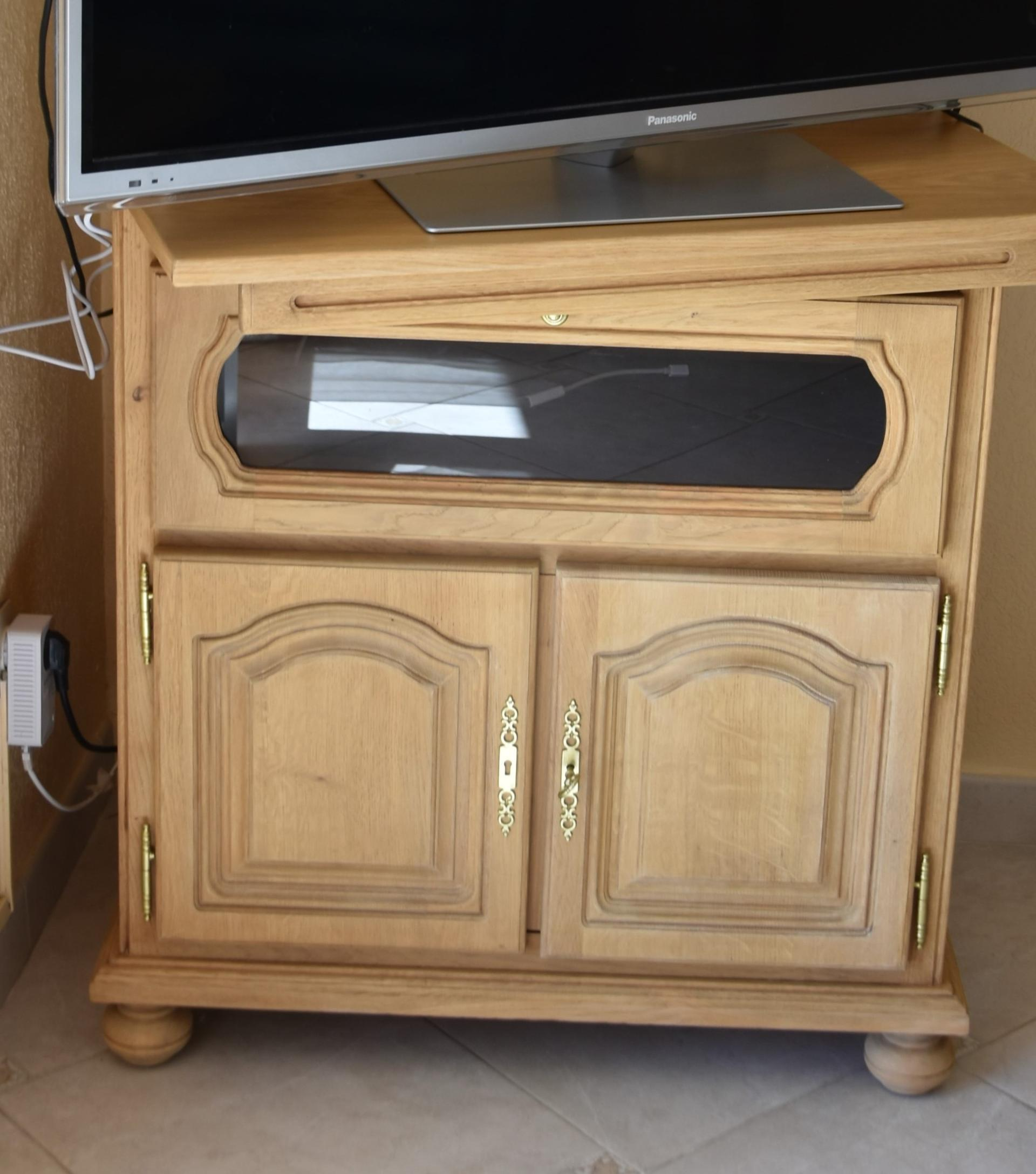 meuble de tv placage chene comment