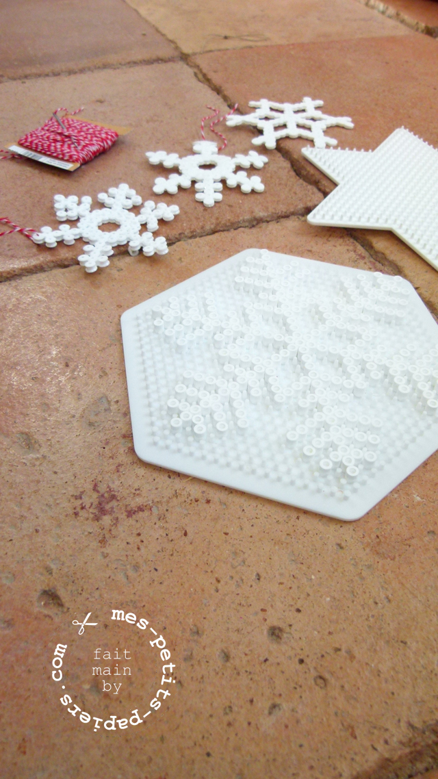 DIY flocons hama