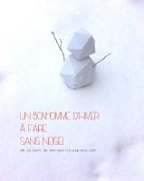 DIY bonhomme d'hiver