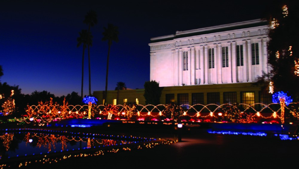 Mesa Temple Lights