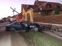 Accident grav la Șelimbăr. Șoferul este încarcerat