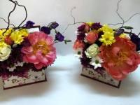 Artă florală, scoasă la licitație în scop caritabil