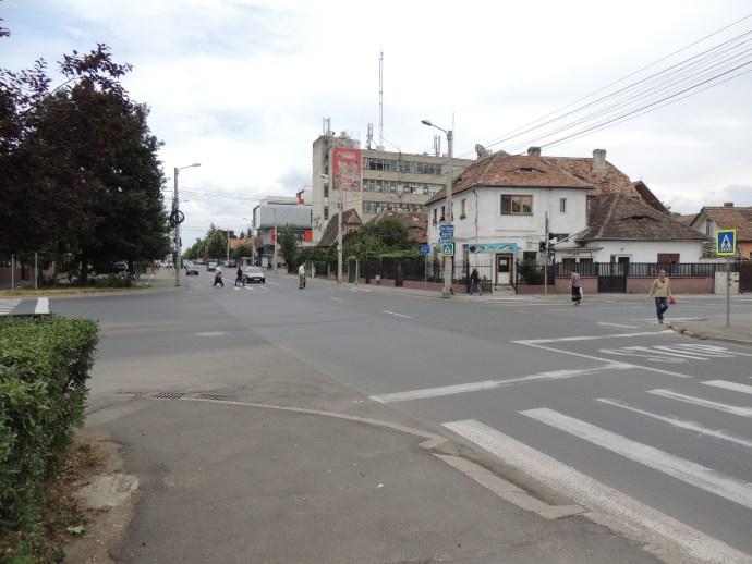 Intersecția străzilor Bâlea și Ștefan cel Mare