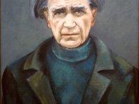 Portretul lui Emil Cioran, realizat anul trecut de artistul plastic Eugen Dornescu, la comanda familiei Cioran (ulei pe pânză, 50/60 cm)