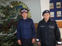Elevi în practică la Jandarmeria Sibiu
