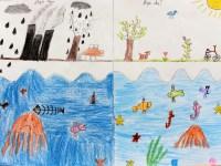 """Desen înscris de unul dintre concurenți, de la școala gimnazială """"Nicolae Iorga"""" din Sibiu"""