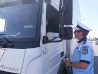 Polițiștii sibieni verifică autobuzele, microbuzele și camioanele
