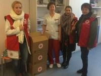 Crucea Roșie a donat cearceafuri Maternității din Sibiu