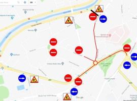 Circulație închisă pe două artere importante din Sibiu, pentru reparații și asfaltare