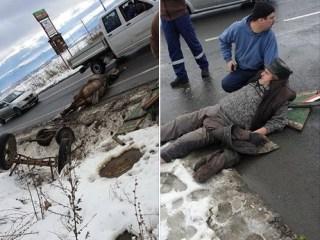 Accident grav în Viile Sibiului! Un bărbat de 75 ani este rănit