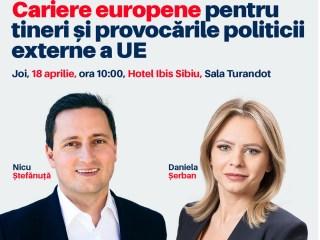 """Tinerii sunt invitați la evenimentul """"Cariere europene și provocările politicii externe a UE"""""""