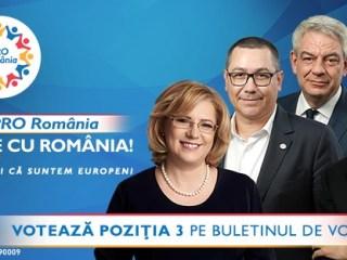 Votează PRO România pe 26 mai, poziția 3 pe buletinul de vot (P.E.)