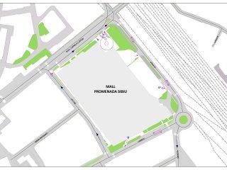Primăria Sibiu aruncă responsabilitatea în curtea Poliției Rutiere pentru circulația din zona noului mall