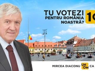 Pe 10 noiembrie votează Mircea Diaconu, un OM ca TINE! (P.E.)