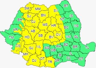 Vânt puternic în Sibiu, ce va sufla și cu 65 km/oră. Meteorologii au anunțat cod galben