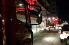 VIDEO Sperietură zdravănă azi noapte pe Calea Șurii Mici. Un apartament a luat foc