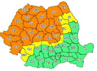 Potop anunțat de ANM! Cod portocaliu pentru Sibiu