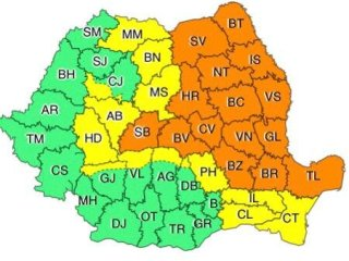 Nu scăpăm nici azi de potop! Cod portocaliu de ploi puternice în Sibiu