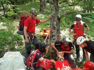 "FOTO: ""Exercițiu complex de salvare"" al Salvamont Sibiu"