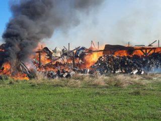 FOTO, VIDEO: Incendiu violent la intrarea în Marpod