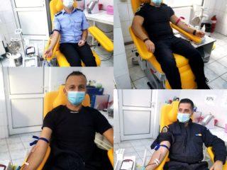 FOTO, VIDEO: Jandarmii sibieni au donat sânge pentru viață