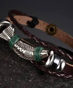 bracelet poisson cordre tressee vue sur poisson et corde tressee