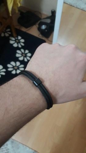 GRATUIT - Bracelet en corde tissée motif Ancre marine photo review