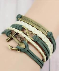 Bracelet de charme vintage multicouche modèle 2