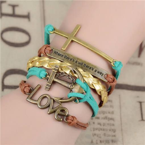 Bracelet de charme vintage multicouche modèle 4