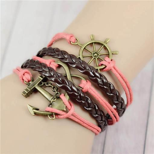 Bracelet de charme vintage multicouche modèle 8