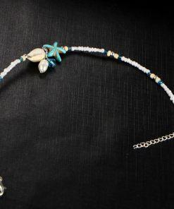 Chaine de cheville Océan étoile de mer non assemble fond noir