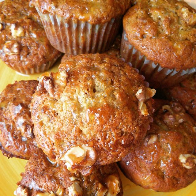 Honey Banana Nut Muffins