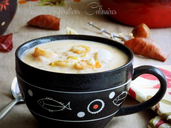 chaudree ou chowder de crevettes1