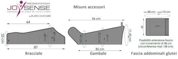 JoySense 2.0 misure accessori