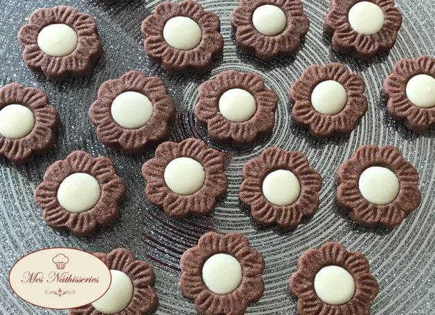 Biscuits gourmands aux 2 chocolats