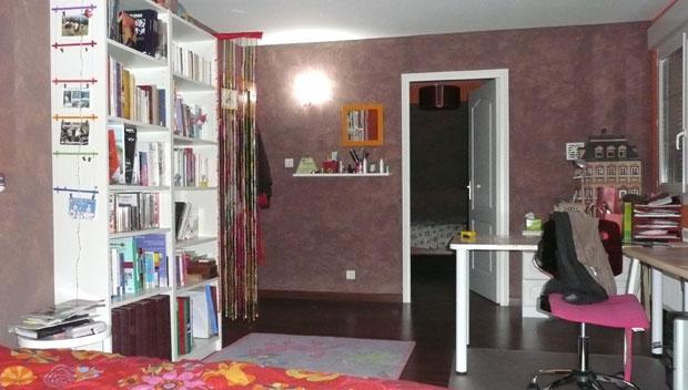 chambre ado aux couleurs rouge